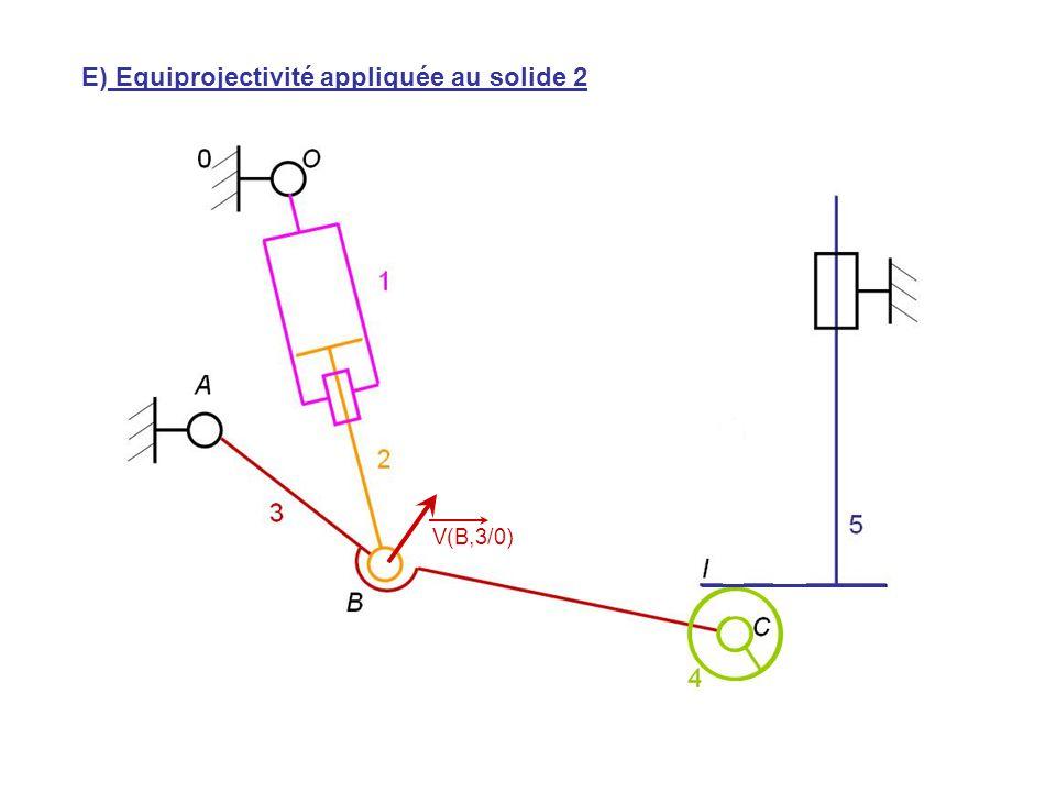 V(H,5/0) V(B,3/0) E) Equiprojectivité appliquée au solide 2