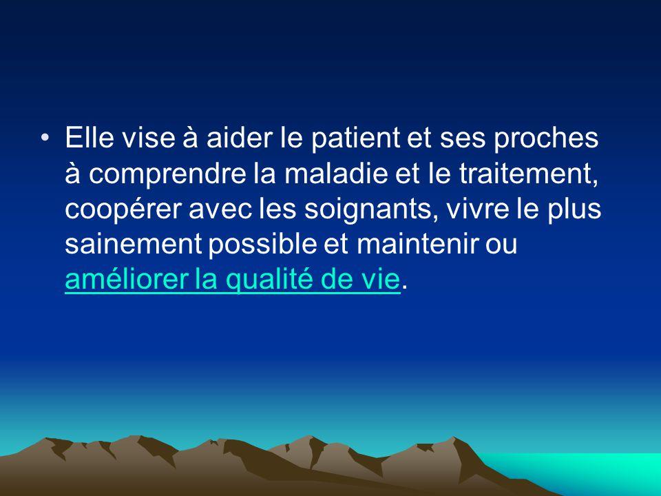 Ex : Gérer son traitement  Dire à un patient quand on a mal quelque part.