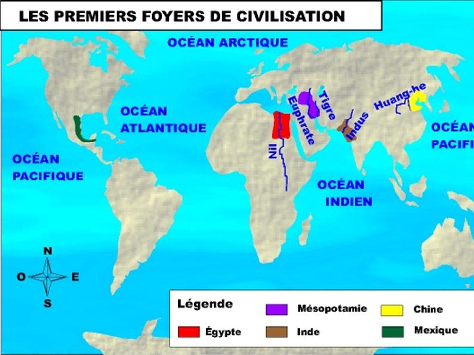 Le croissant fertile 12 000 ans avant J.-C., la sédentarisation commence au Moyen-Orient dans la région du croissant fertile.