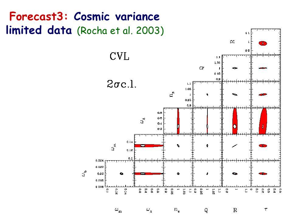 Forecast2: Planck 2 year data ( Rocha et al. 2003)