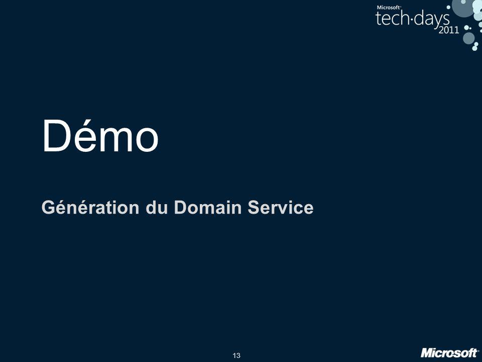 13 Démo Génération du Domain Service