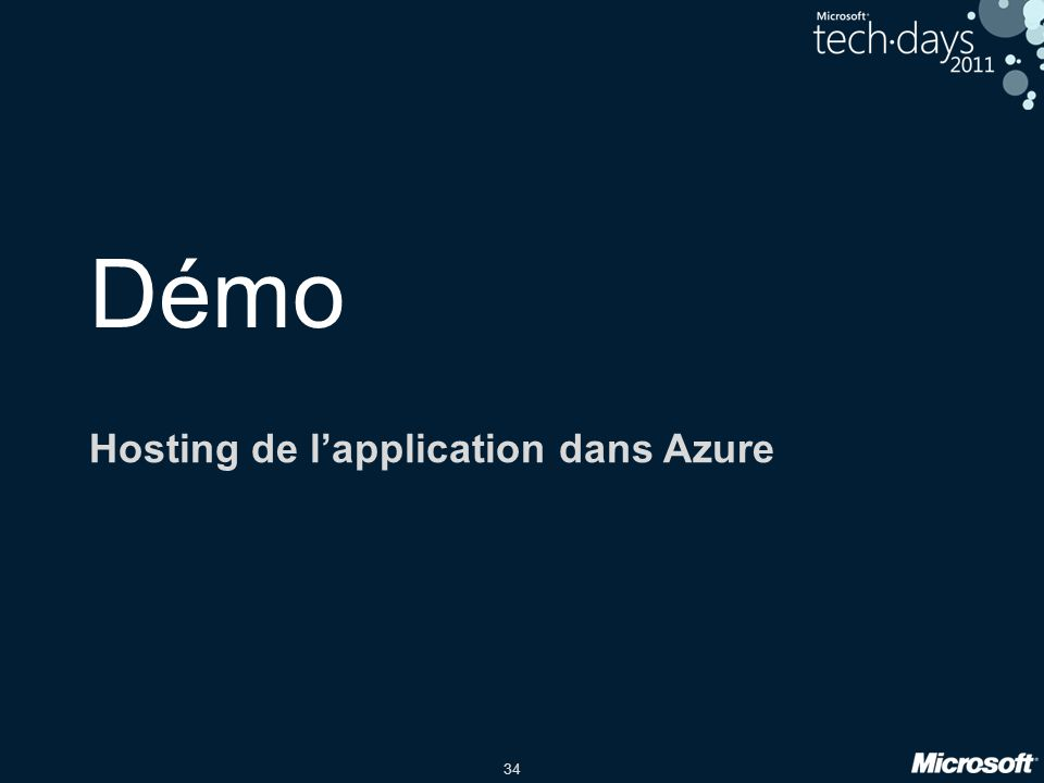 34 Démo Hosting de l'application dans Azure