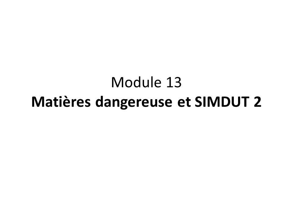 13.1 Étiquetage des produits contrôlés 13.2 Étiquette du fournisseur 13.3 Étiquette du lieu de travail 13.4 Fiche signalétique 13.5 Formation des travailleurs