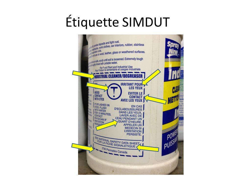Étiquette SIMDUT