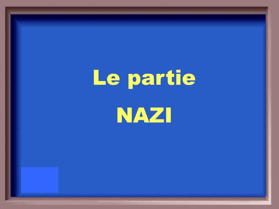 Quel était le nom du partie politique de Hitler?