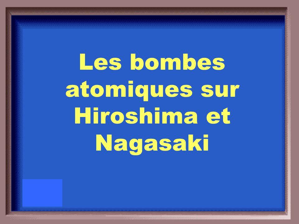 Le 26 juillet, le Président des États-Unis Harry Truman a intimé au Japon de se rendre ou d'accepter « une destruction rapide et totale ».