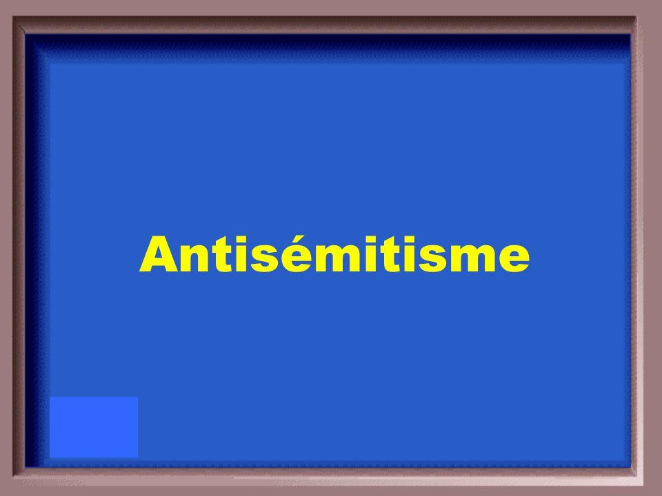 Préjugé contre, ou hostilité envers les juifs