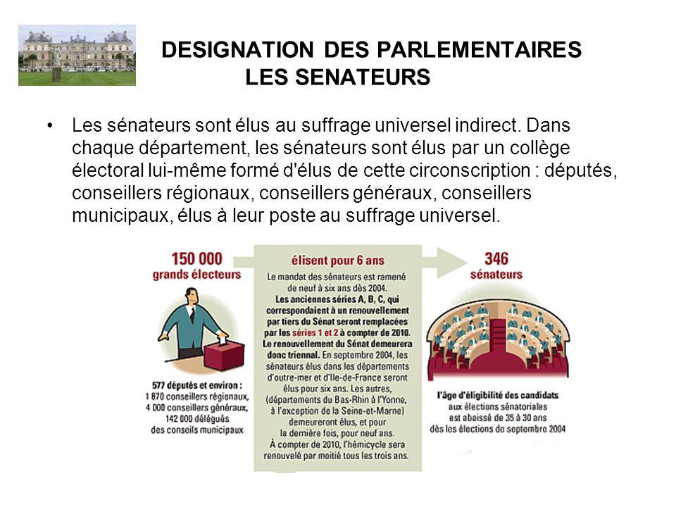 ROLE DU SENATEUR le sénateur est avant tout un législateur chargé de voter les lois de la République.