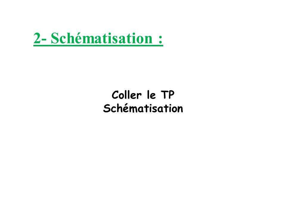 Coller le TP Schématisation 2- Schématisation :