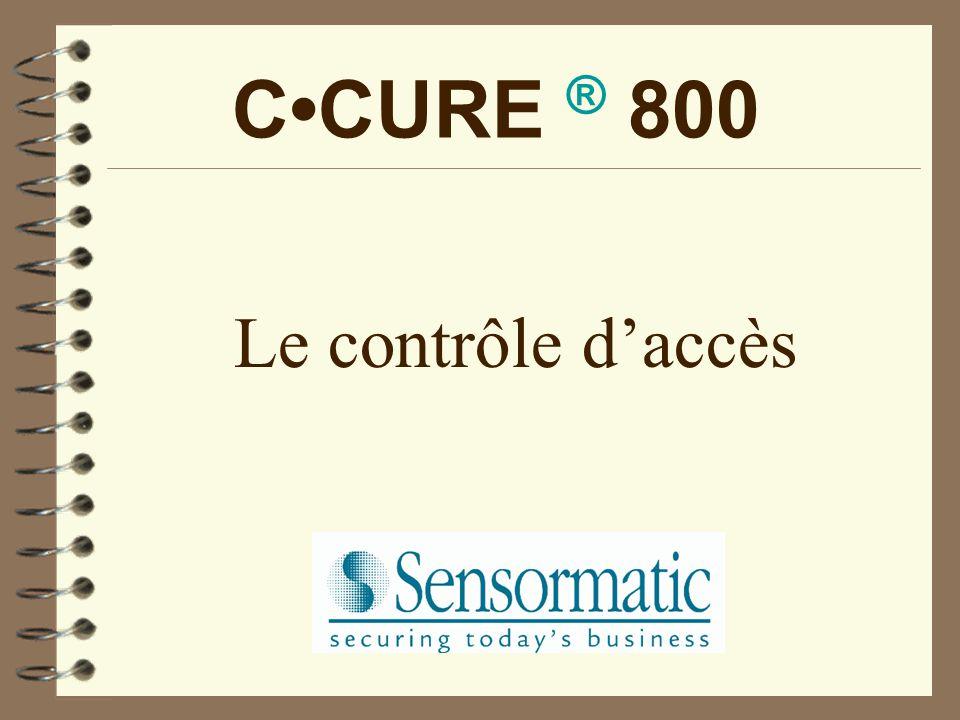 CCURE ® 800 Le contrôle d'accès