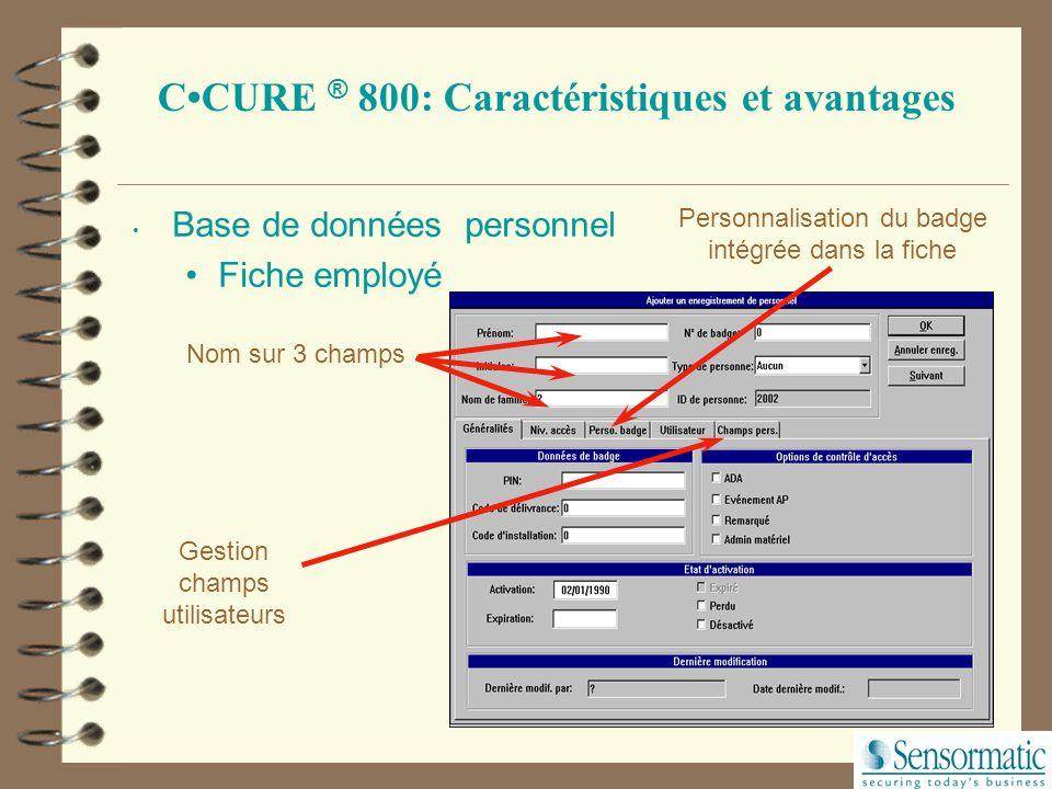 Tri par des champs clefs Boutons permettant un accès rapide aux fiches Recherche rapide selon 4 champs de données Fiche employé Menu déroulant de la l