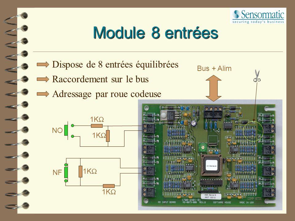 Permet l'interfaçage entre la carte RM4 et l'organe de verrouillage. Carte ARM-1 Cde verrouillage RM4 Tension ResistifResistif Inductif 125 V 0.4 A 0.