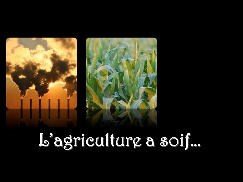 L'industrie a soif…