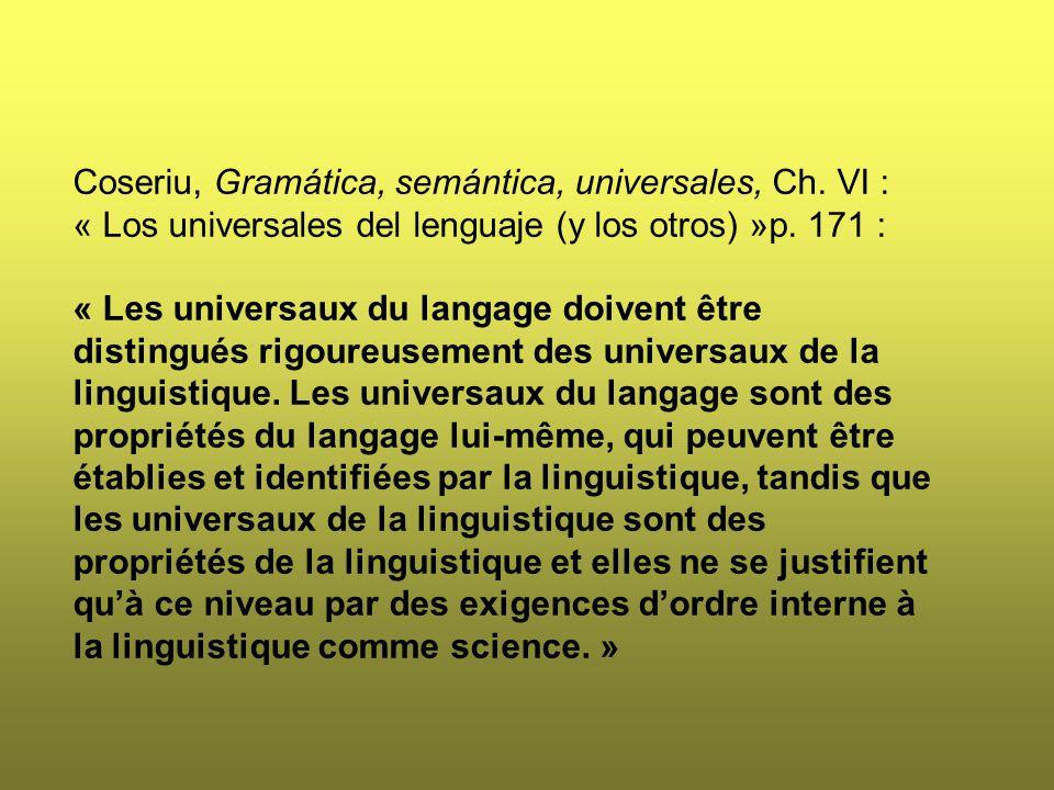 Coseriu, Gramática, semántica, universales, Ch.