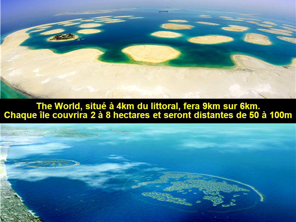The World, situé à 4km du littoral, fera 9km sur 6km.