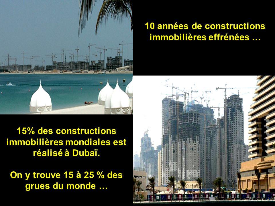 15% des constructions immobilières mondiales est réalisé à Dubaï.