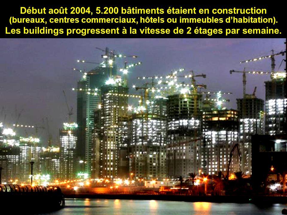 Début août 2004, 5.200 bâtiments étaient en construction (bureaux, centres commerciaux, hôtels ou immeubles d'habitation).