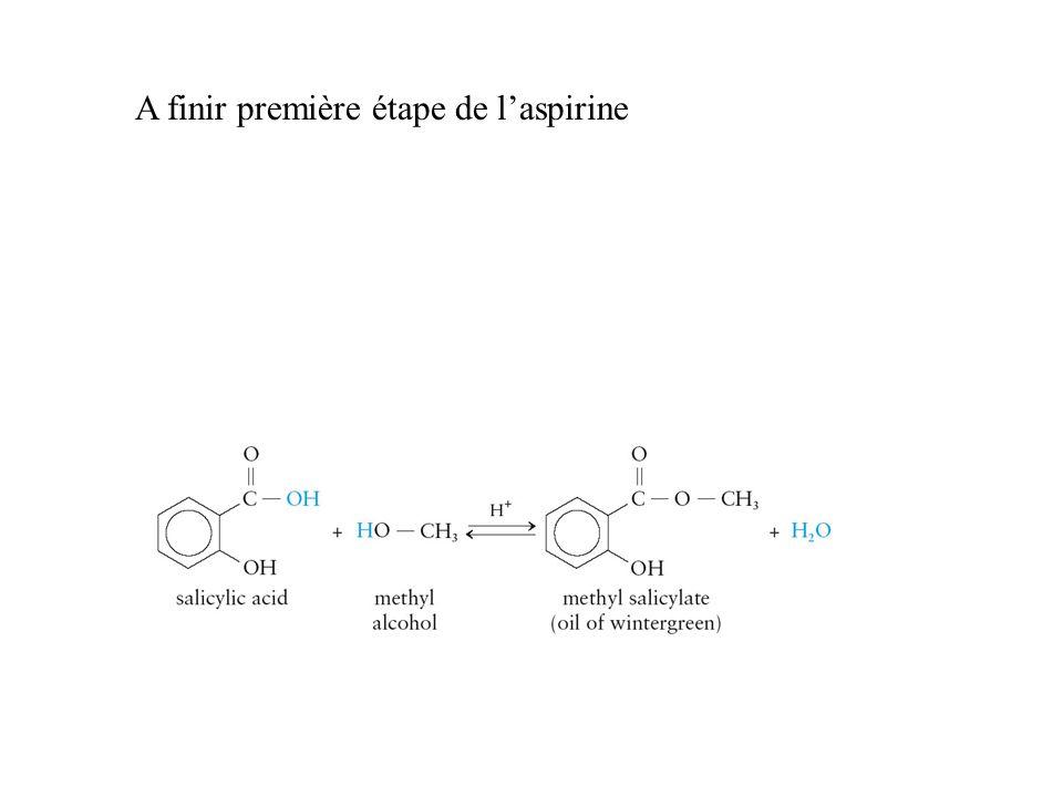 A finir première étape de l'aspirine