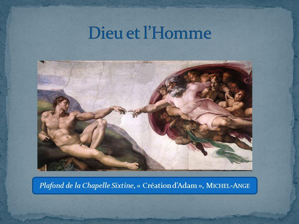 Comment le peintre établit-il une séparation entre le monde d'Adam et celui de Dieu ? Corrigé