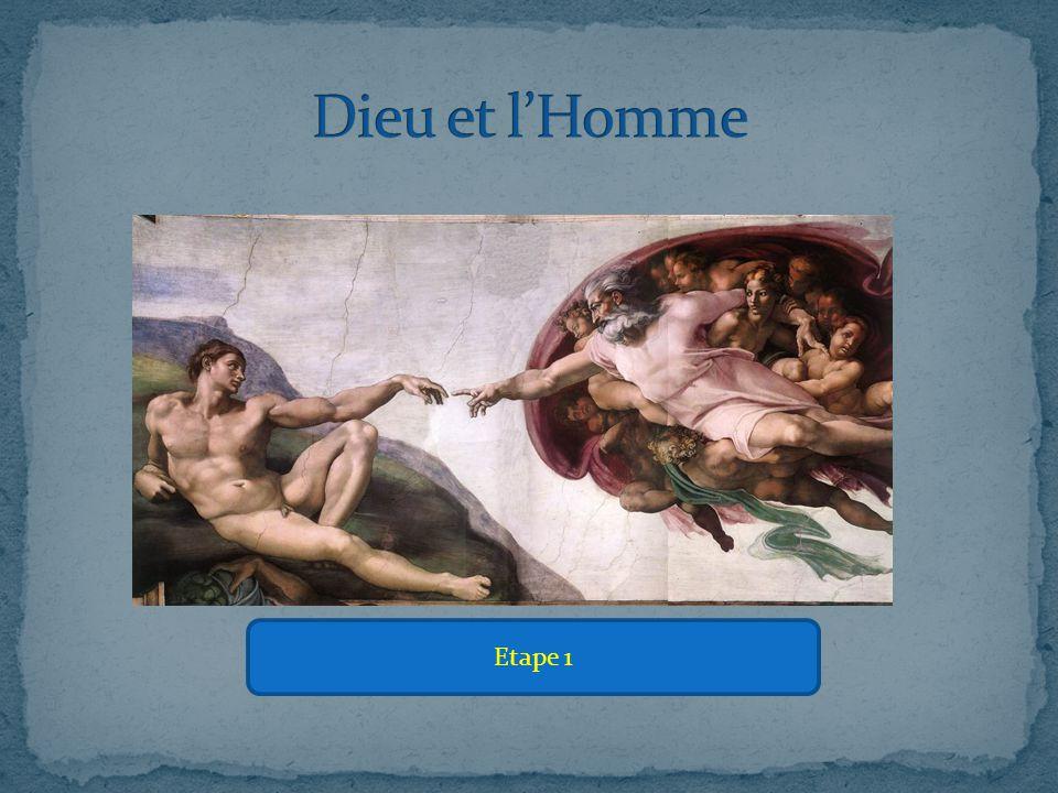 => Dans ce tableau, l'homme est une création terrestre et lourde, là où Dieu est une entité légère et céleste.