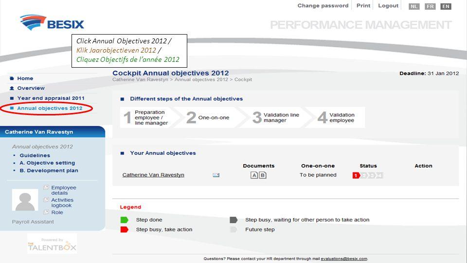 Click Annual Objectives 2012 / Klik Jaarobjectieven 2012 / Cliquez Objectifs de l'année 2012