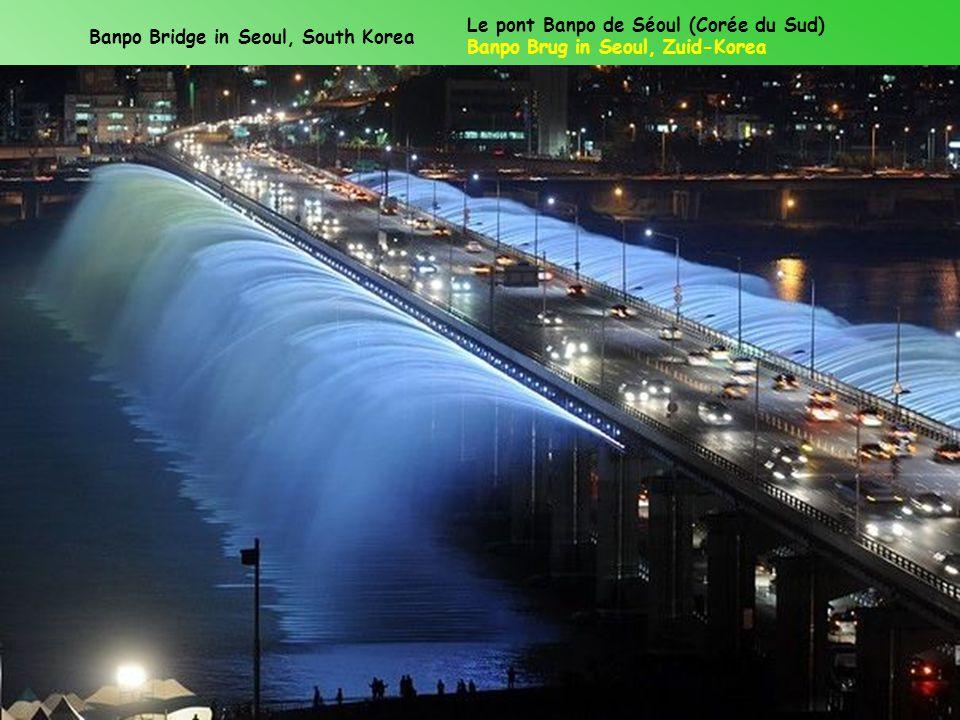 Banpo Bridge in Seoul, South Korea Le pont Banpo de Séoul (Corée du Sud) Banpo Brug in Seoul, Zuid-Korea
