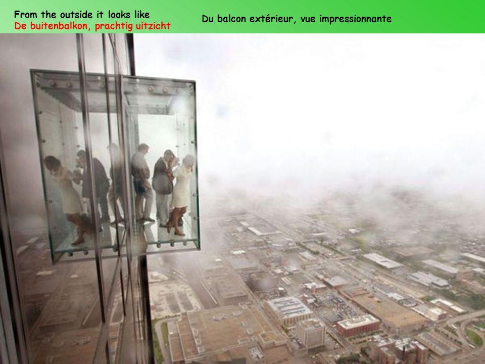 From the outside it looks like De buitenbalkon, prachtig uitzicht Du balcon extérieur, vue impressionnante