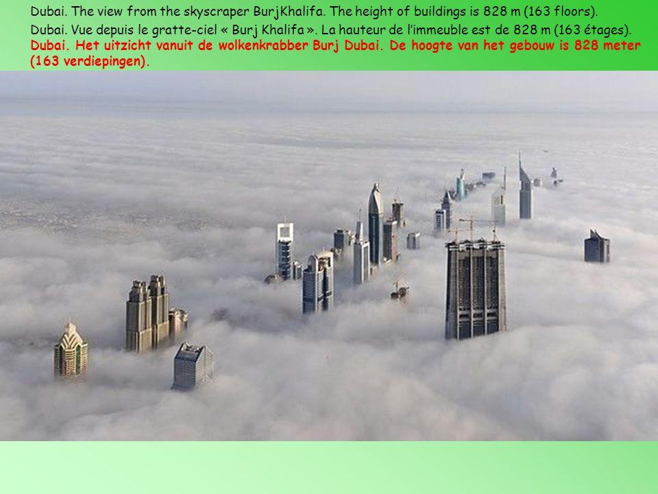 Dubai.Vue depuis le gratte-ciel « Burj Khalifa ».