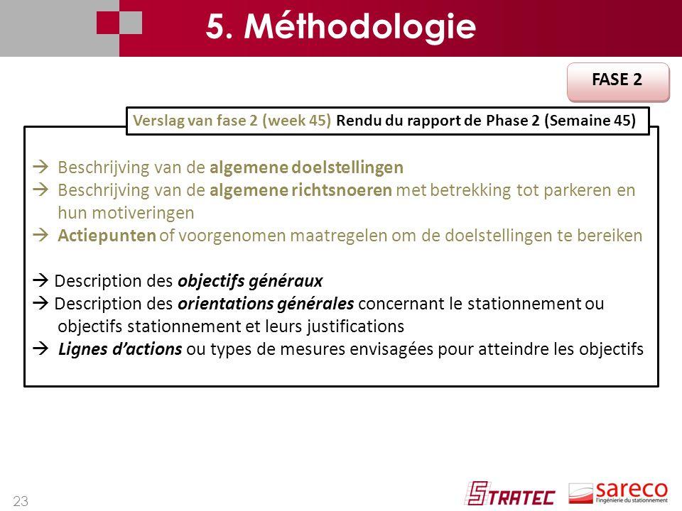 23  Beschrijving van de algemene doelstellingen  Beschrijving van de algemene richtsnoeren met betrekking tot parkeren en hun motiveringen  Actiepu