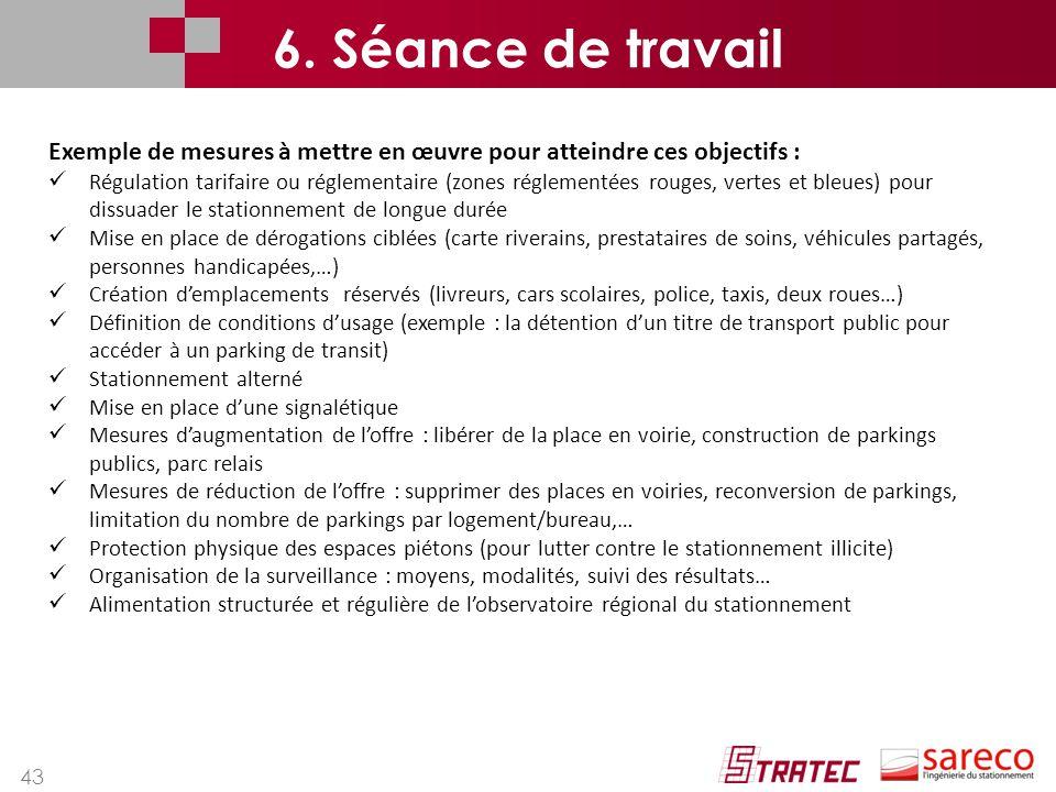 43 Exemple de mesures à mettre en œuvre pour atteindre ces objectifs : Régulation tarifaire ou réglementaire (zones réglementées rouges, vertes et ble