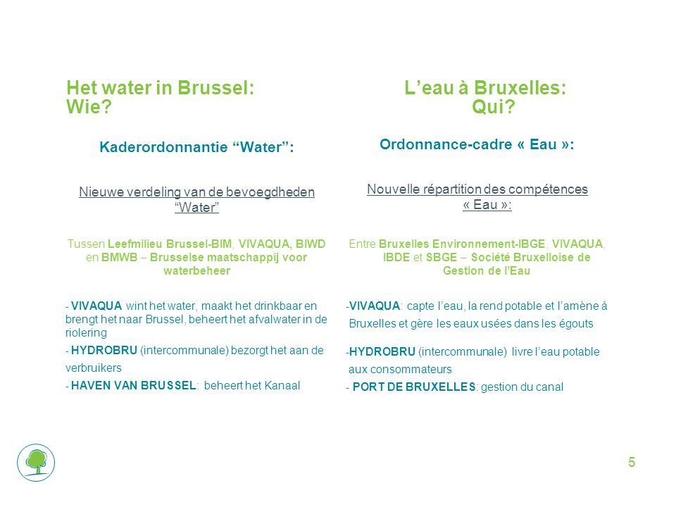 5 Het water in Brussel:L'eau à Bruxelles: Wie Qui.