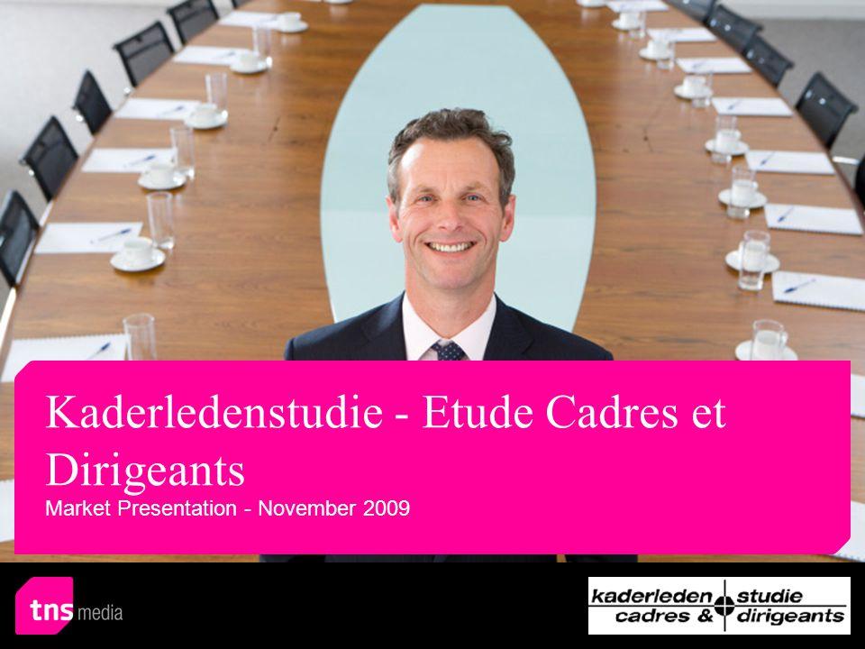 Comparison of the Readership Figures AIR (%)TOTAL (%) 20092007 20092007 DAILIES100 De Tijd21.824.1=48.853.7\ De Standaard16.018.4=41.043.0= Het Nieuwsblad/De Gentenaar13.413.7=28.432.2\ Het Laatste Nieuws/De Nieuwe Gazet13.017.9\36.440.1= Le Soir11.912.7=38.641.5= De Morgen10.610.8=30.328.8= L Echo8.710.1=26.632.8\ La Libre Belgique/Gazette de Liège7.96.1=26.627.0= Het Belang van Limburg6.94.5/13.210.7= Metro NL6.8 NA 25.4NA La Dernière Heure/Les Sports6.87.2=21.023.0= Gazet van Antwerpen6.58.7\18.221.8\ Metro FR5.8 NA 15.7NA Sud Presse4.74.8=16.414.3= Editions de l'Avenir3.04.4=12.913.2= Universe: national Kaderledenstudie - Etude Cadres et Dirigeants > Evolutie resultaten 2007 versus 2009 82