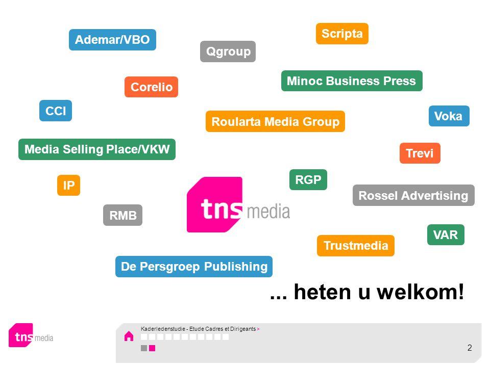 Titles with insufficient number of observations Nostalgie Vlaanderen (1.9% ALP – 5.5% total reach) Radio contact NL (1.6% ALP – 4.8% total reach) Fun Radio (0.5% ALP – 5.0% total reach) Musiq'3 (1.7% ALP – 8.5% total reach) Kaderledenstudie - Etude Cadres et Dirigeants > Results 2009 – TV & Radio 73