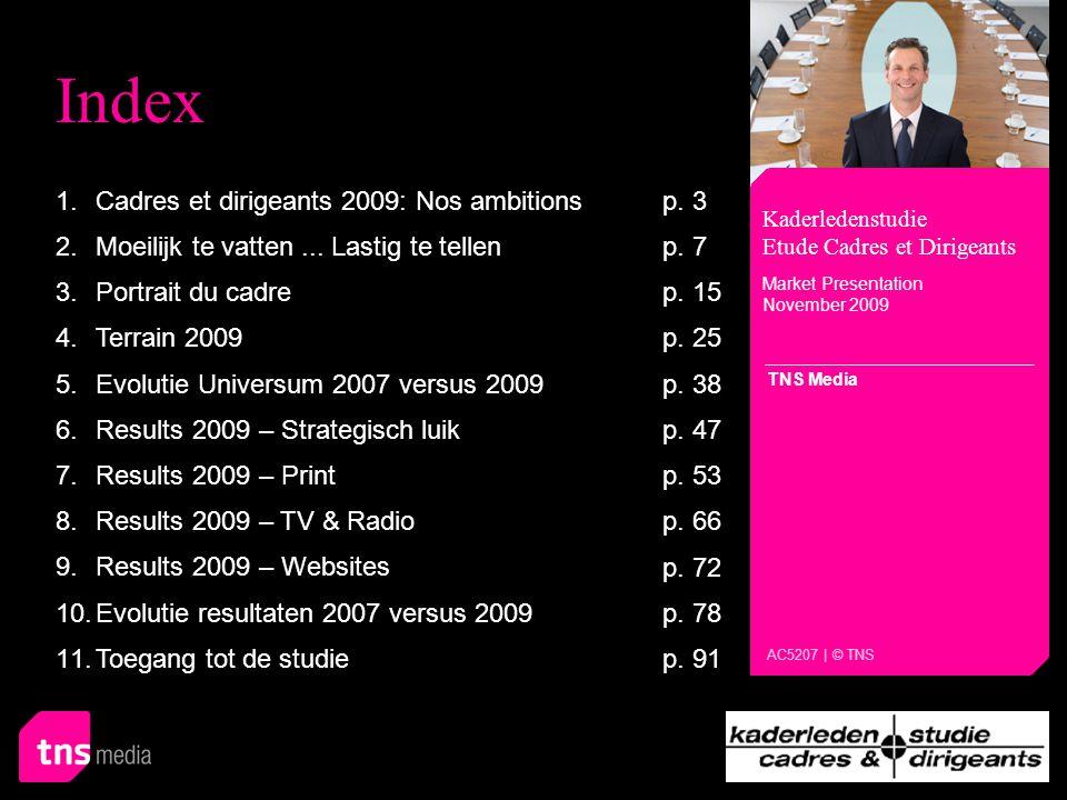 Kaderledenstudie - Etude Cadres et Dirigeants Cadres et dirigeants 2009: Nos ambitions