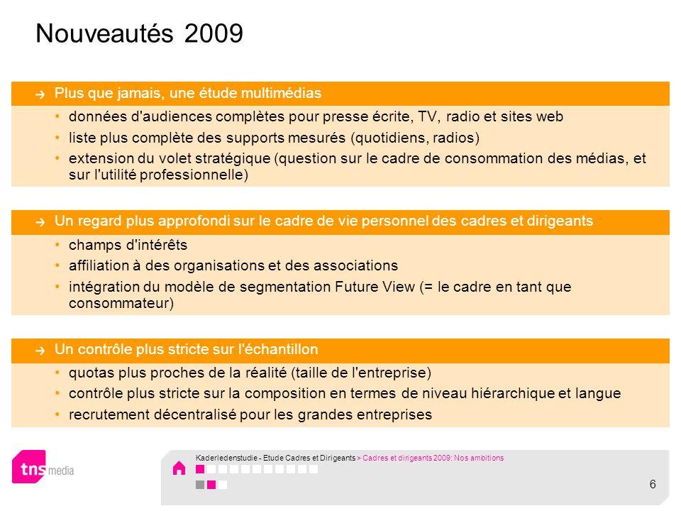 Kaderledenstudie - Etude Cadres et Dirigeants Terrain 2009