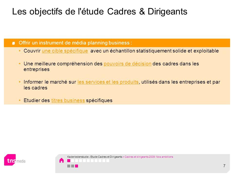Kaderledenstudie - Etude Cadres et Dirigeants Results 2009 – TV & Radio
