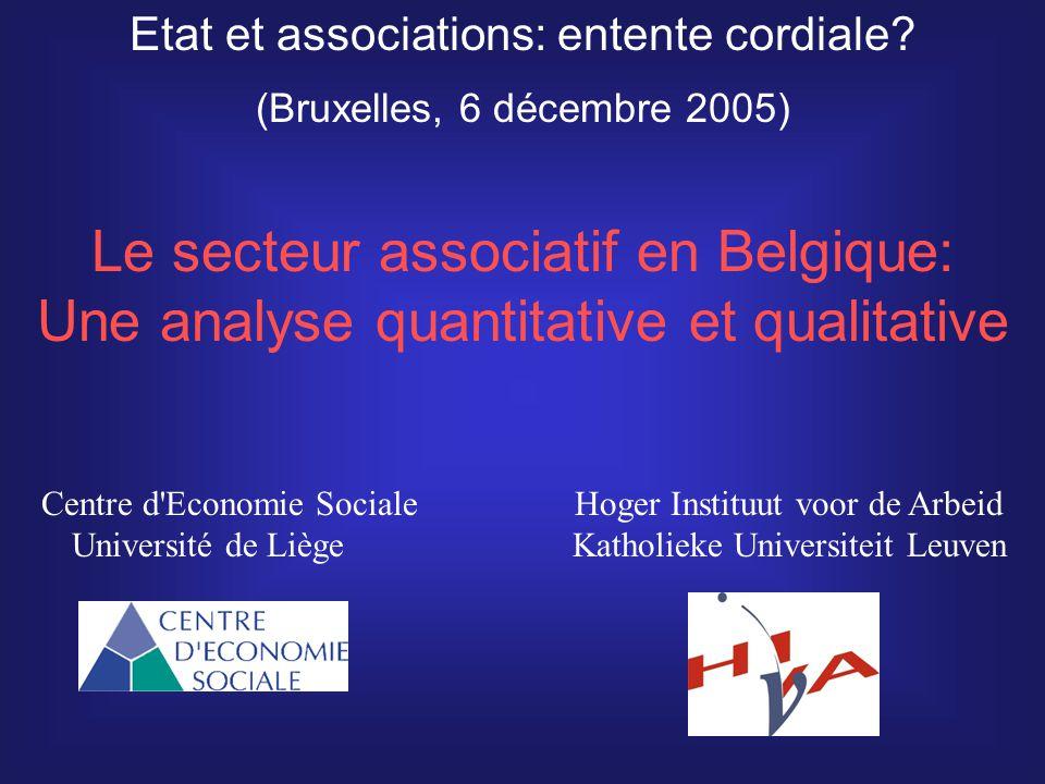 La connaissance quantitative du secteur associatif en Belgique fin des années 90: seulement le nombre de créations annuelles d ASBL.