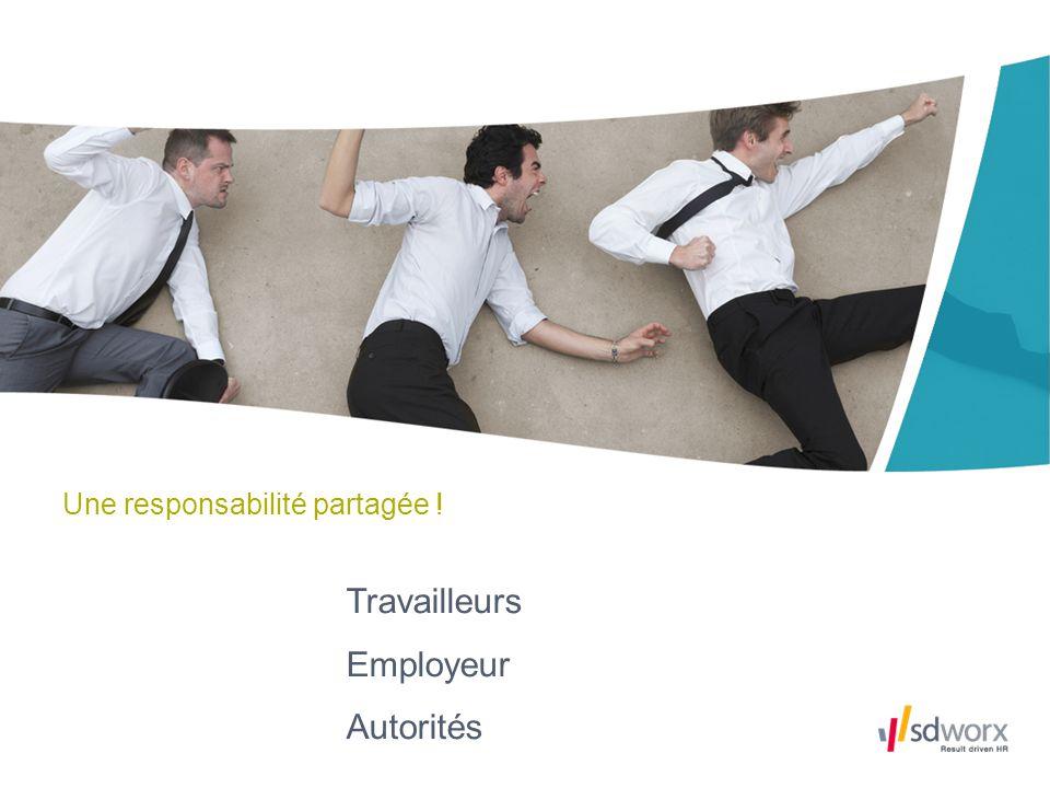 Une responsabilité partagée ! Travailleurs Employeur Autorités
