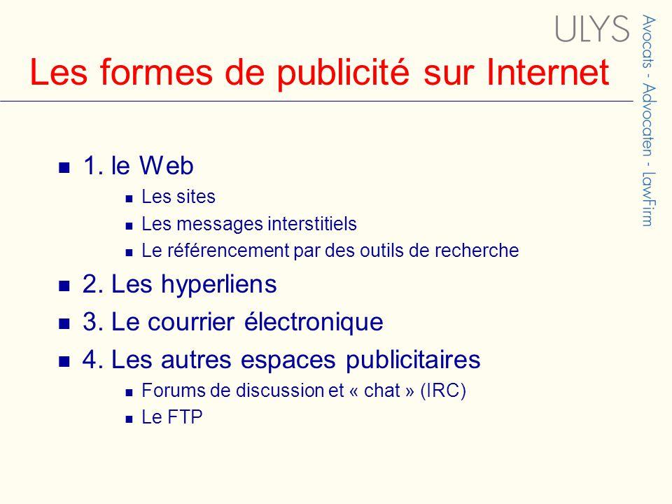 Les formes de publicité sur Internet 1.