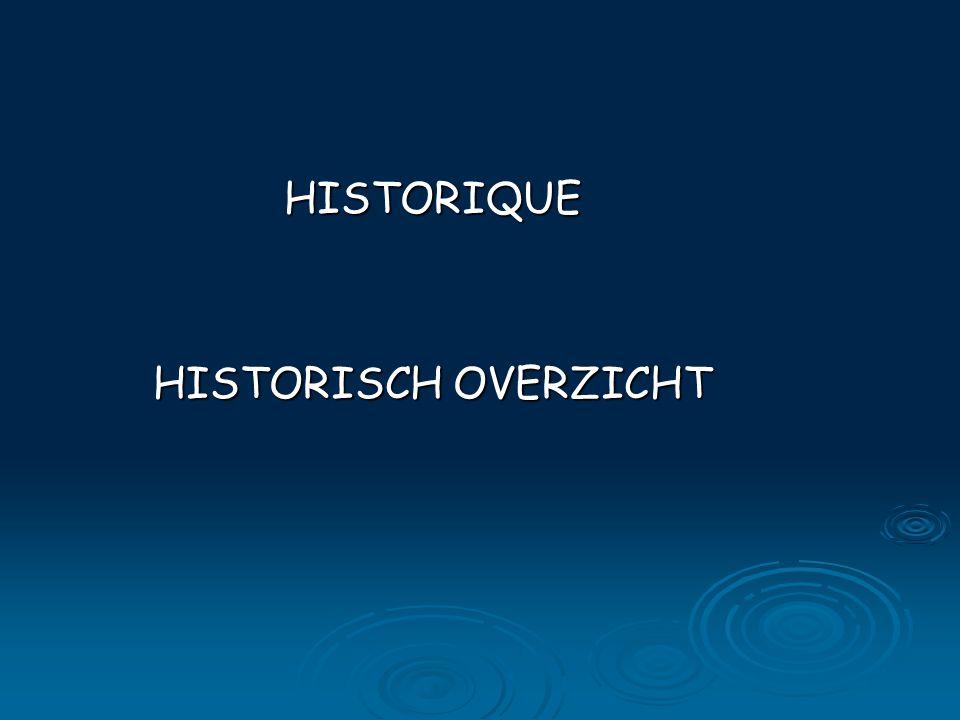 HISTORIQUE HISTORISCH OVERZICHT