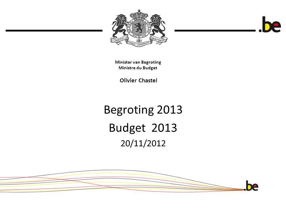 Minister van Begroting Ministre du Budget Olivier Chastel Begroting 2013 Budget 2013 20/11/2012