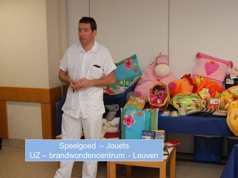 Speelgoed – Jouets UZ – brandwondencentrum - Leuven