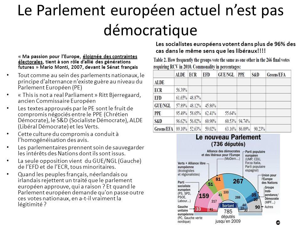 Le Parlement européen actuel n'est pas démocratique « Ma passion pour l'Europe, éloignée des contraintes électorales, tient à son rôle d'allié des gén