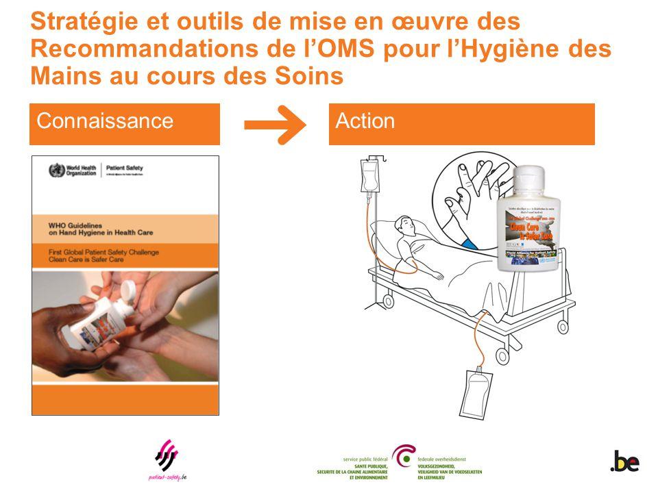 Stratégie et outils de mise en œuvre des Recommandations de l'OMS pour l'Hygiène des Mains au cours des Soins ConnaissanceAction
