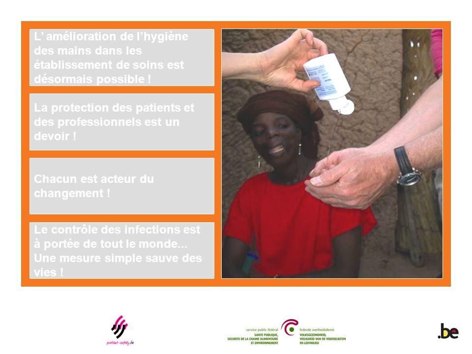 L' amélioration de l'hygiène des mains dans les établissement de soins est désormais possible ! La protection des patients et des professionnels est u