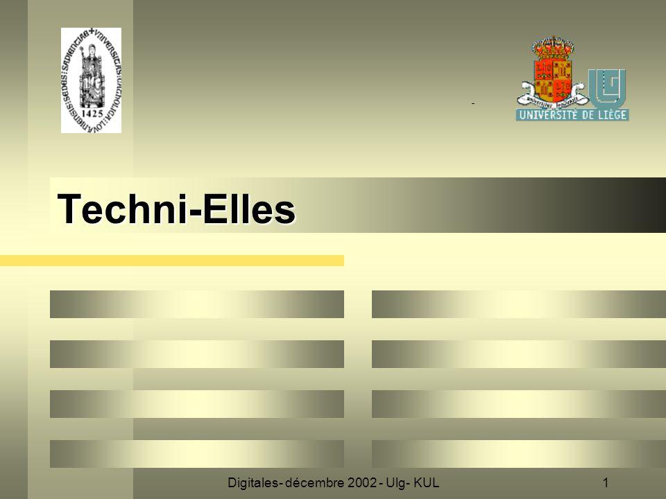 Digitales- décembre 2002 - Ulg- KUL1 Techni-Elles
