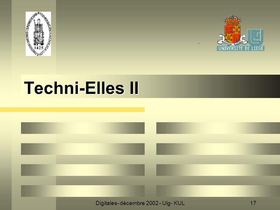 Digitales- décembre 2002 - Ulg- KUL17 Techni-Elles II