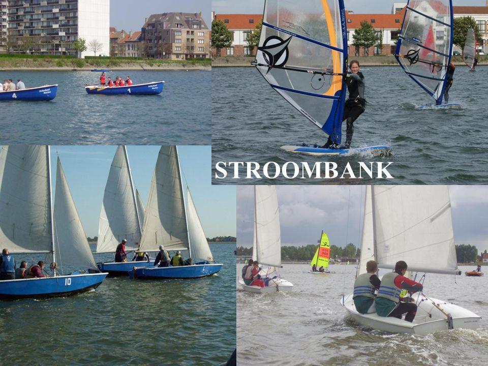 Training - Entraînement Competities - Competitions Clubwedstrijden Spuikom (Avr, Jun, Sep) Stroombank (roeien, caravelle, surfen, 470, zwemmen) –Milit