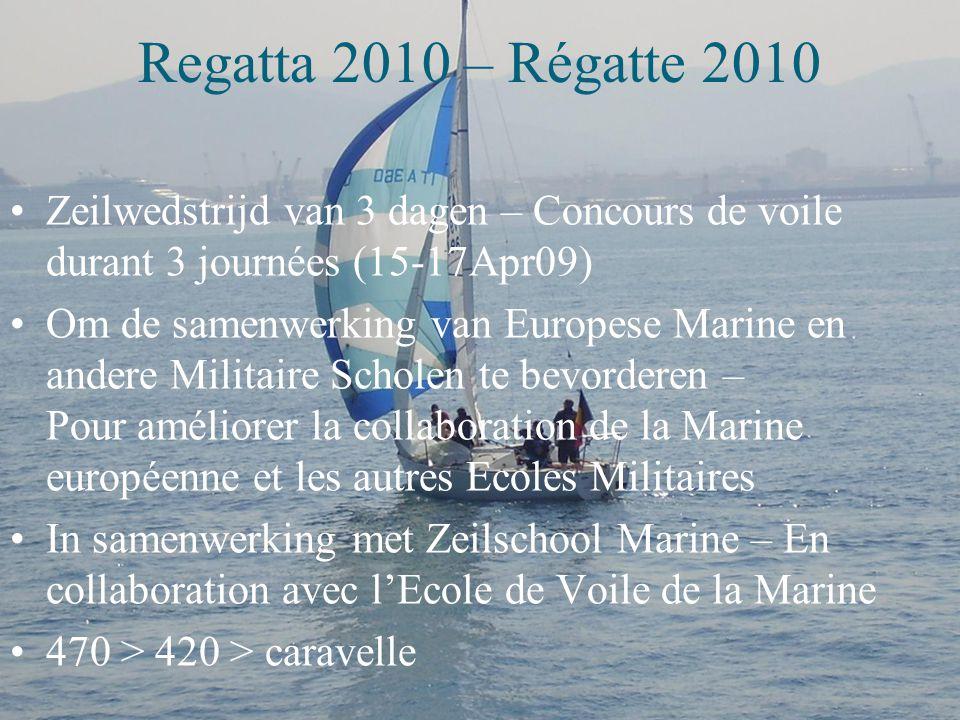Contenu – Inhoud Activiteiten – Activités  Vorming en brevetten – Formation et diplômes  Entraînement – Training  Yachting Regatta 2010 – Régatte 2