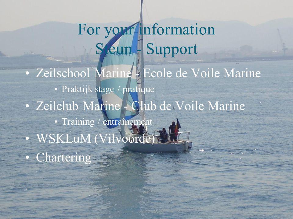 For your information Werking - Fonctionnement RMAST  Club van de leerlingen / club des élèves  Inschrijvingen / inscriptions  Lidgeld / cotisation